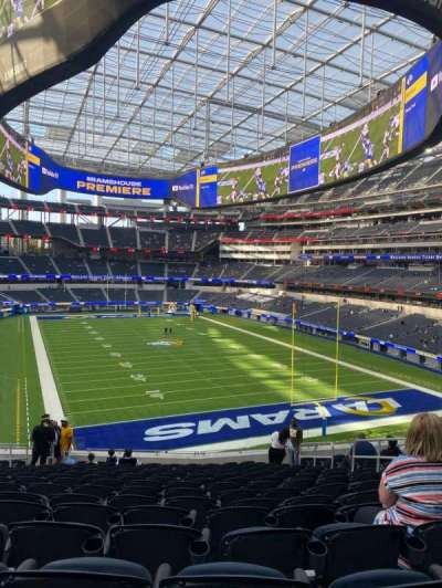 SoFi Stadium, section: 230, row: 16, seat: 8
