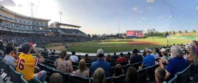 Isotopes Park, section: 112, row: M, seat: 5
