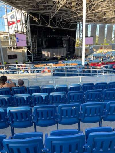 Budweiser Stage, section: 409, row: F, seat: 18
