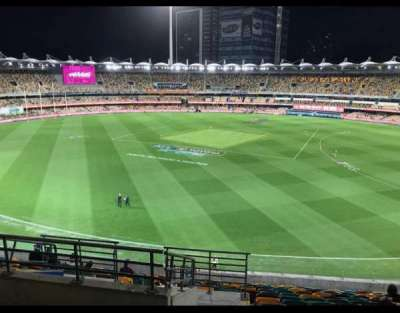 The Gabba, section: 439, row: QQ, seat: 182