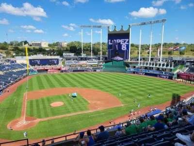 Kauffman Stadium, section: 427, row: J, seat: 2