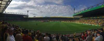 Carrow Road, section: H, row: K, seat: 62