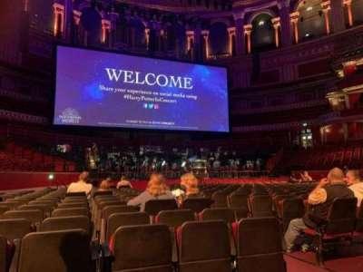 Royal Albert Hall, section: C, row: 22, seat: 8