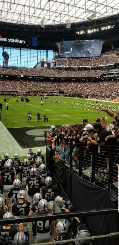 Allegiant Stadium, section: 125, row: 12, seat: 14