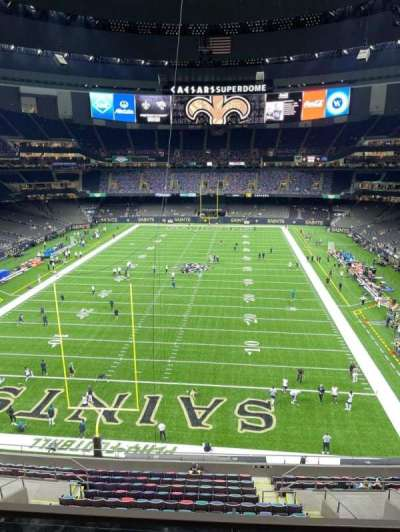 Caesars Superdome, section: 559, row: 2, seat: 15