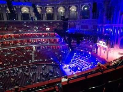 Royal Albert Hall section Rausing circle X