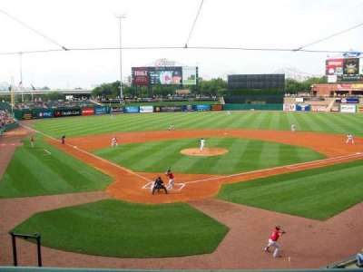 Louisville Slugger Field, section: 214, row: A, seat: 5
