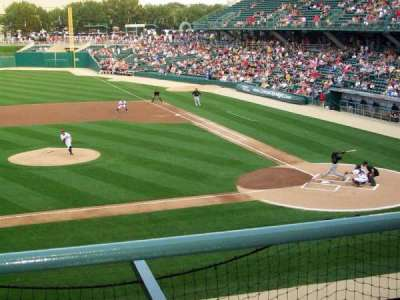 Victory Field, section: 206, row: B, seat: 9