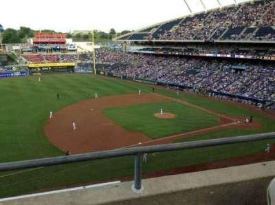 Kauffman Stadium, section: 408, row: B, seat: 5