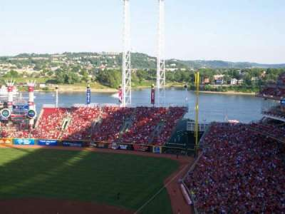 Great American Ball Park, section: 522, row: F, seat: 4