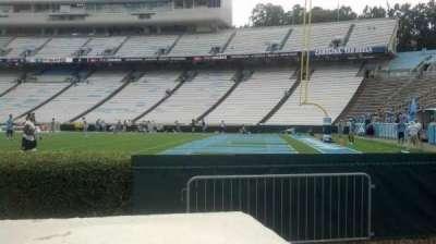 Kenan Memorial Stadium, section: 111, row: A, seat: 23