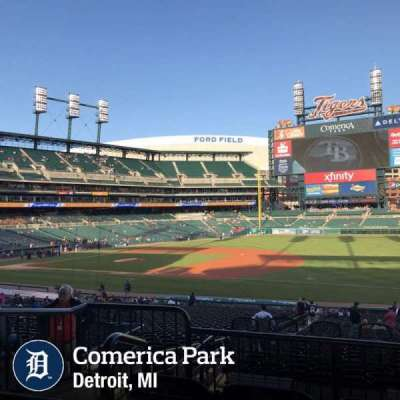 Comerica Park, section: 117c, row: C, seat: 3