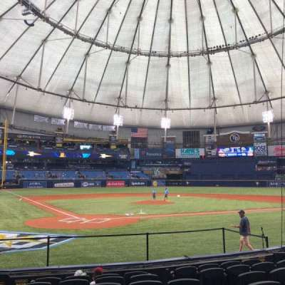 Tropicana Field, section: 106, row: M, seat: 4