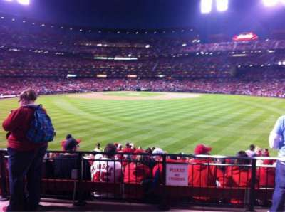 Busch Stadium, section: HLA, row: A, seat: 46