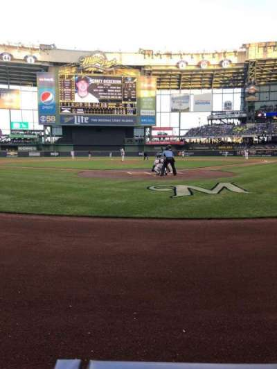 Miller Park, section: 118, row: 1, seat: 5