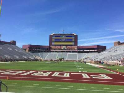 Bobby Bowden Field at Doak Campbell Stadium, section: 119, row: 2, seat: 10
