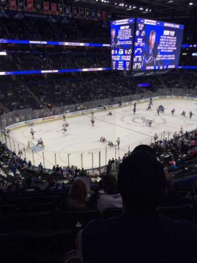 Amalie Arena, section: 205, row: H, seat: 6