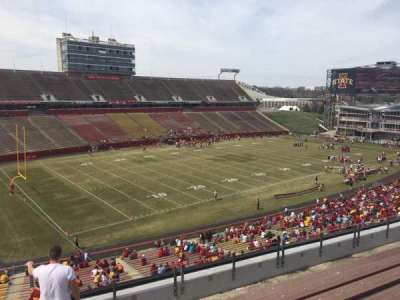 Jack Trice Stadium, section: T, row: 8, seat: 1