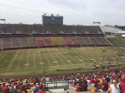 Jack Trice Stadium, section: U, row: 20, seat: 42