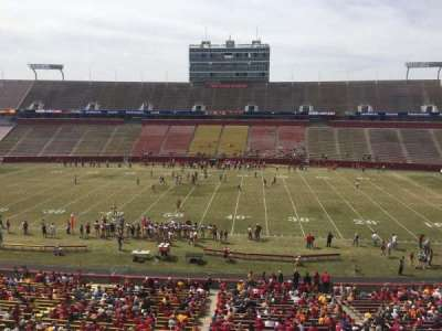 Jack Trice Stadium, section: X, row: 1, seat: 1