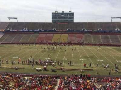 Jack Trice Stadium, section: X, row: 1, seat: 1