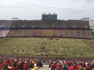 Jack Trice Stadium, section: X, row: 27, seat: 1