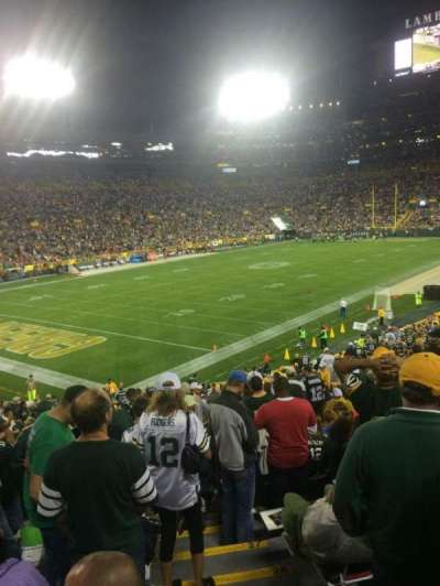 Lambeau Field, section: 108, row: 34, seat: 21