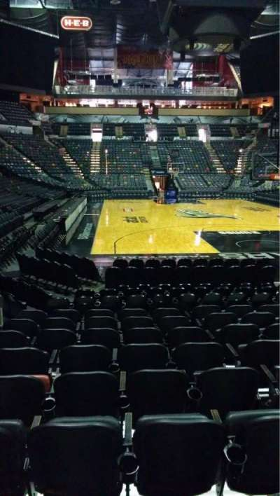 AT&T Center, section: 128, row: 12, seat: 4