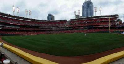 Great American Ball Park, section: 145, row: A, seat: 9