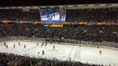 SAP Center at San Jose, section: C10, row: 1