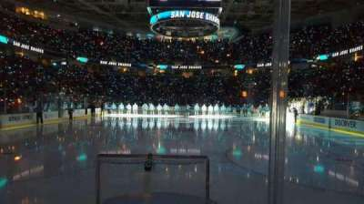 SAP Center at San Jose, section: 107, row: 2, seat: 14