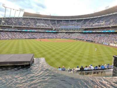 Kauffman Stadium, section: 202, row: A, seat: 1