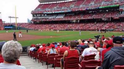 Great American Ball Park, section: 113, row: N, seat: 1