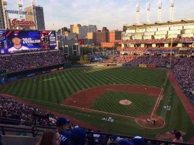 Progressive Field, section: 557, row: H, seat: 14
