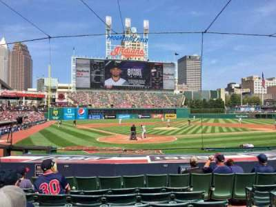 Progressive Field, section: 152, row: N, seat: 4