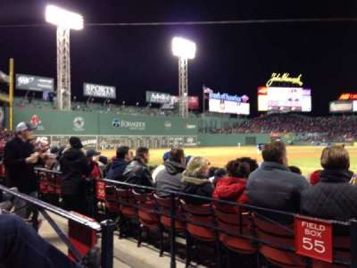 Fenway Park, section: Loge Box 141, row: AA, seat: 3