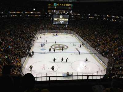 TD Garden, section: Bal 309, row: 4