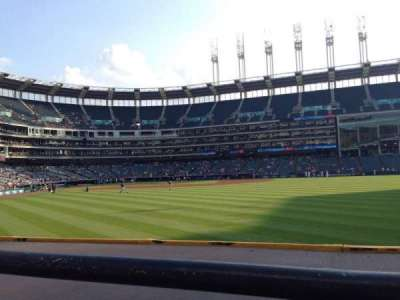 Progressive Field, section: 109, row: A, seat: 4