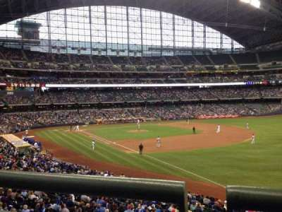 Miller Park, section: 208, row: 1, seat: 10