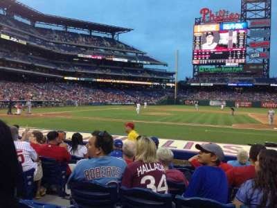 Citizens Bank Park, section: 116, row: 8, seat: 16