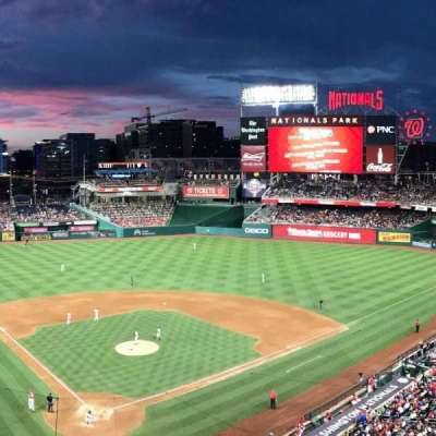 Nationals Park, section: 315, row: A, seat: 10