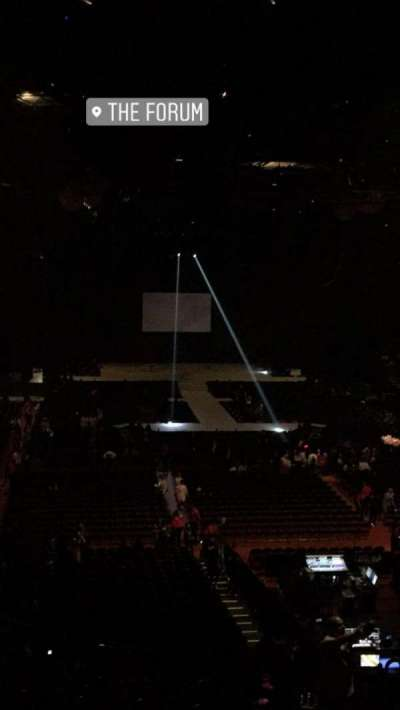 The Forum, section: 235, row: 6, seat: 8