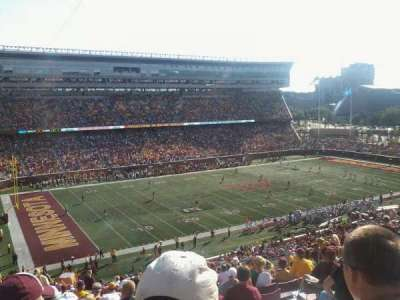 TCF Bank Stadium, section: 215, row: 21, seat: 17