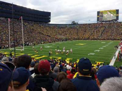 Michigan Stadium, section: 9, row: 26, seat: 1