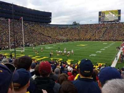 Michigan Stadium, section: 9, row: 26, seat: 1