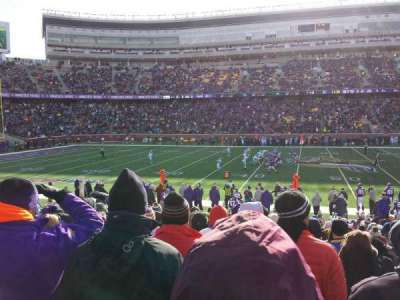 TCF Bank Stadium, section: 111, row: 16, seat: 7