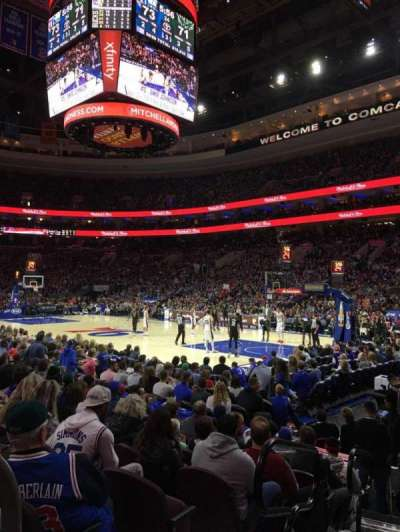 Wells Fargo Center, section: 116, row: 8, seat: 1
