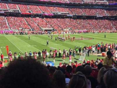 Levi's Stadium, section: 142, row: 20, seat: 12