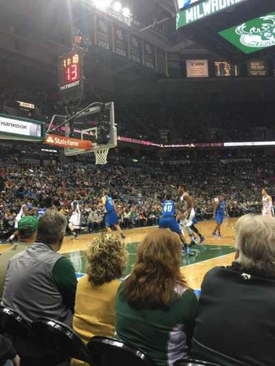 BMO Harris Bradley Center, section: 101, row: CCC, seat: 5