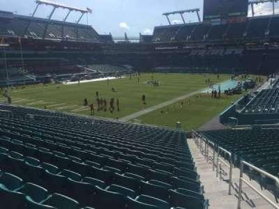 Hard Rock Stadium, section: 129, row: 27, seat: 1